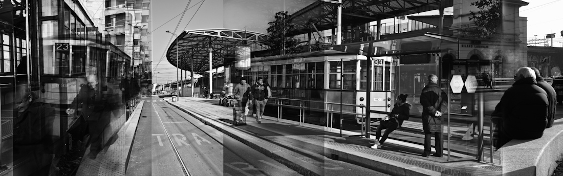 The town. Tram Stops